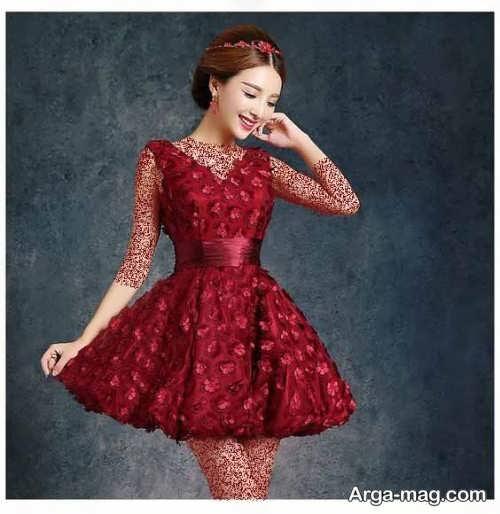مدل لباس مجلسی کوتاه کره ای