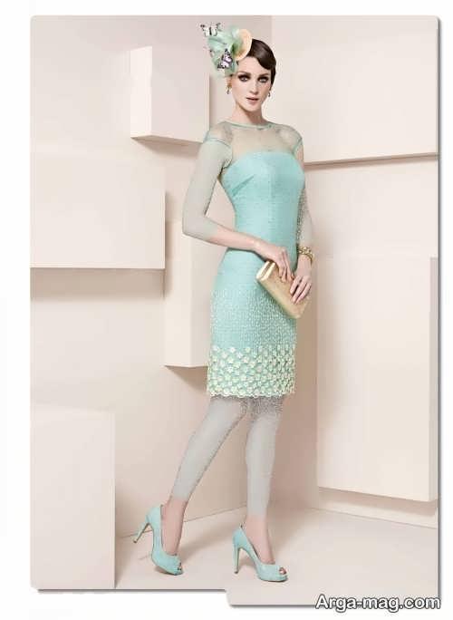 مدل لباس مجلسی سبز 97