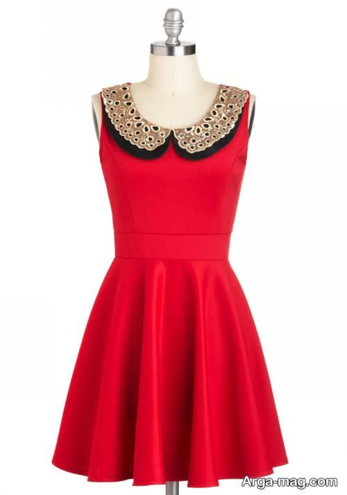 مدل لباس مجلسی شیک و قرمز