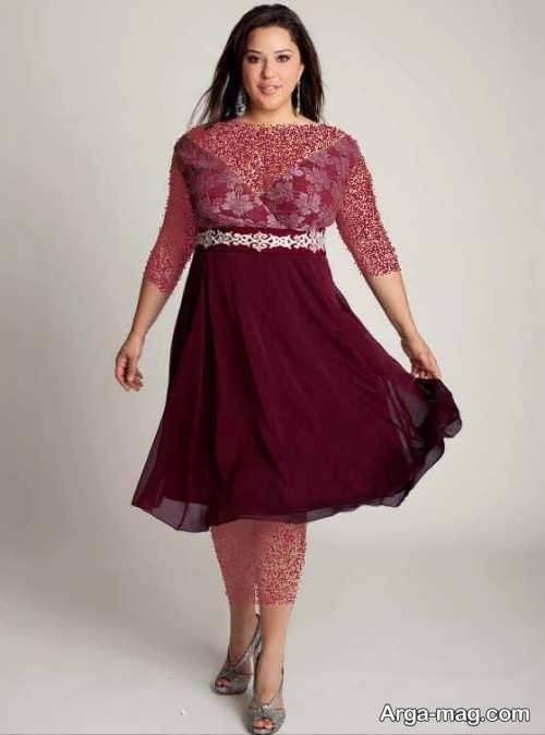 مدل لباس مجلسی زرشکی