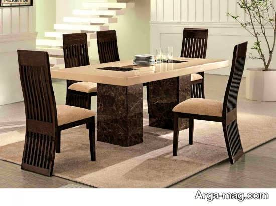طراحی شیک میز ناهار خوری