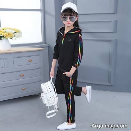 مدل لباس اسپرت مشکی بچه گانه