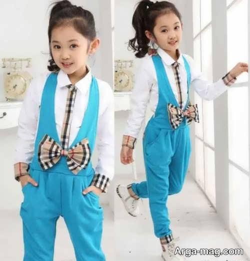 مدل لباس آبی اسپرت بچه گانه