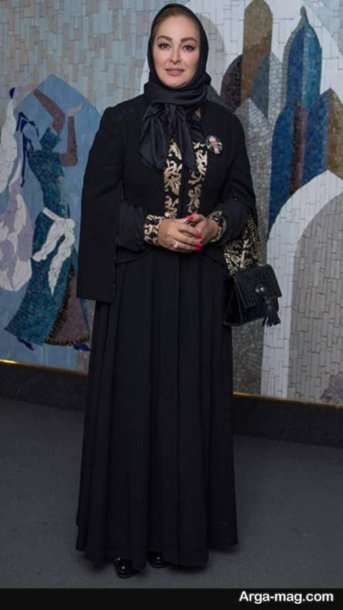 مدل مانتو مشکی الهام حمیدی
