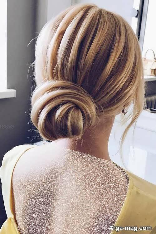 مدل مو بسته و خطی عروس