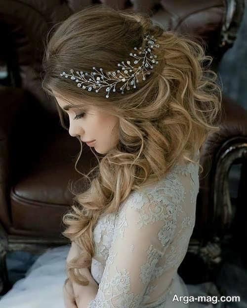 مدل موی زیبا و باز برای عروس