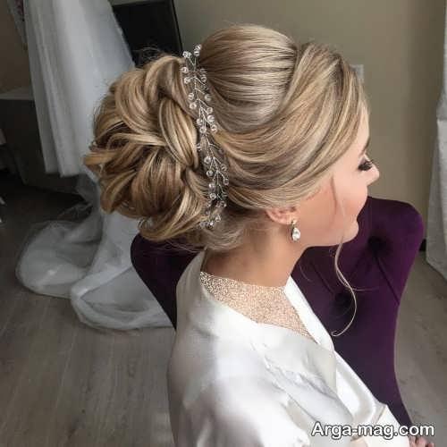 مدل مو بسته و شیک عروس