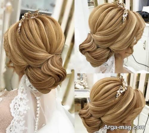 مدل مو بسته و جذاب عروس