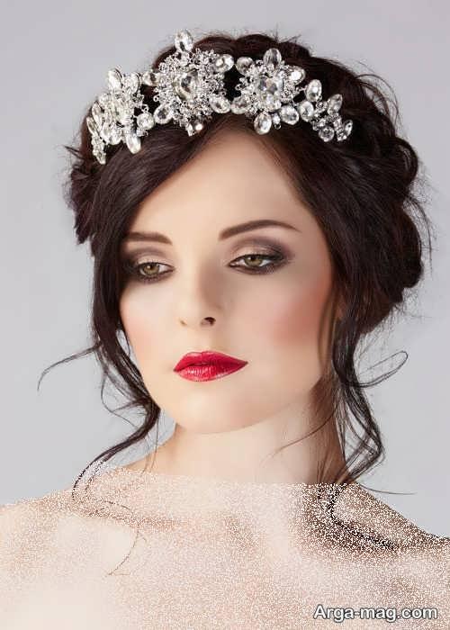 مدل مو ساده و خاص برای عروس