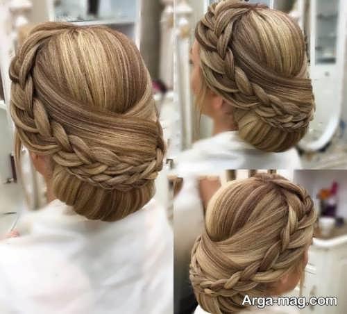 مدل موی عروس همراه با بافت مو