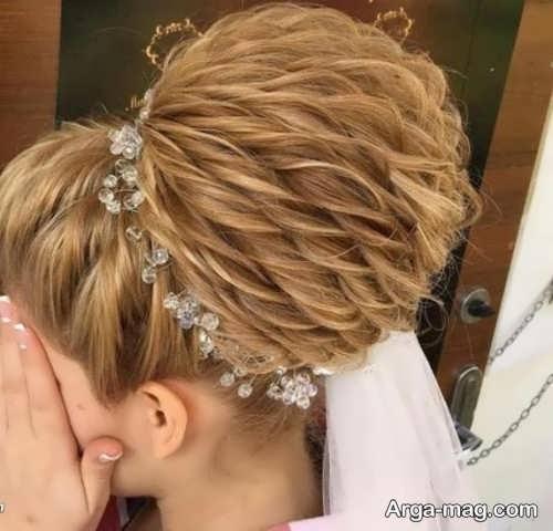 مدل مو خاص برای عروس
