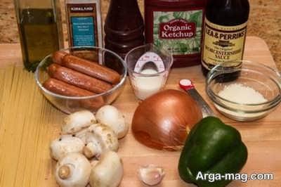مواد لازم برای پخت اسپاگیتی