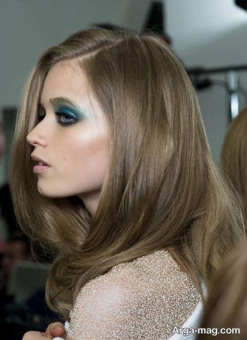 رنگ مو زیبا و شیک دودی زیتونی