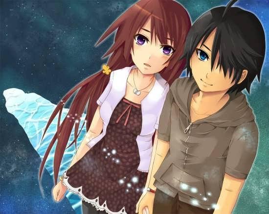 عکس نوشته فانتزی عاشقانه انیمیشنی