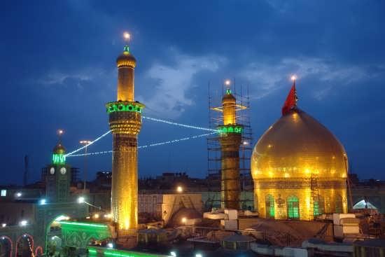 عکس بسیار زیبا از حرم امام علی