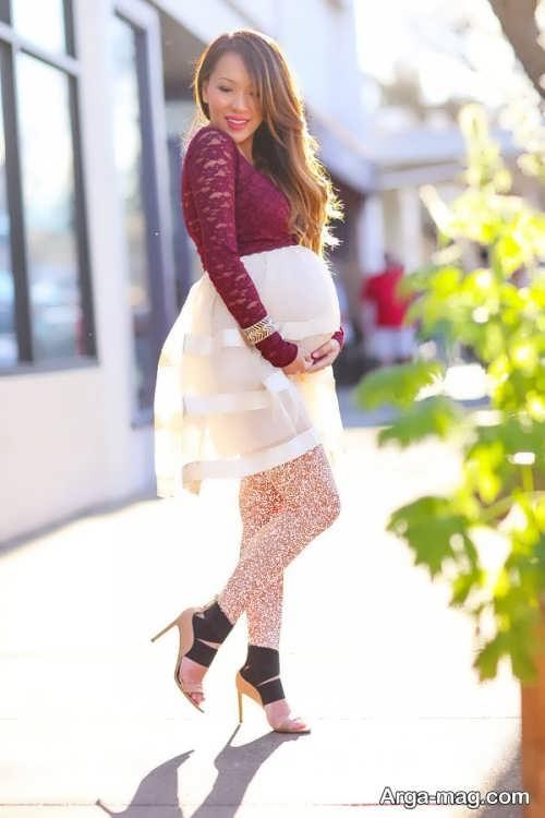 مدل لباس بارداری زیبا و جدید برای آتلیه