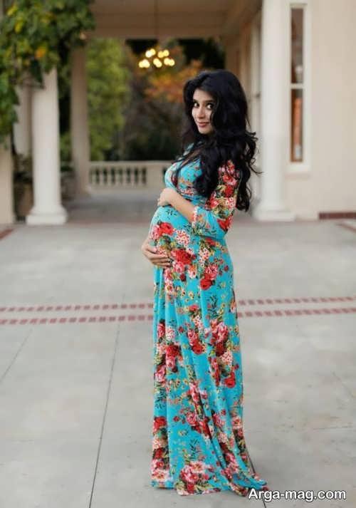 مدل لباس بارداری برای آتلیه با طرح های ساده و زیبا