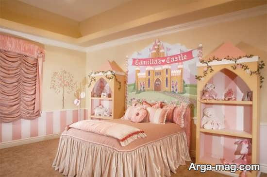 دیزاین زیبای اتاق دخترانه