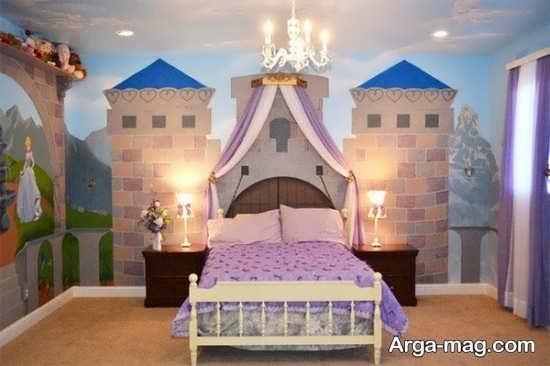 اتاق پرنسسی با تم زیبای بنفش