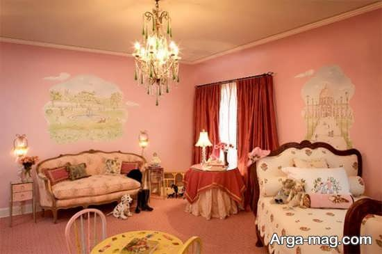 طراحی شیک اتاق پرنسسی