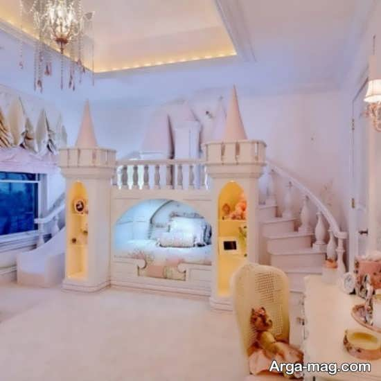 دکوراسیون اتاق دخترانه پرنسسی