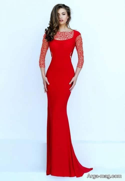 مدل لباس مجلسی قرمز و شیک