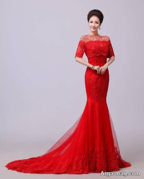 لباس مجلسی بلند و قرمز