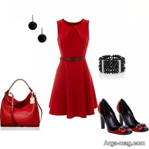 مدل ست لباس مجلسی قرمز و زیبا
