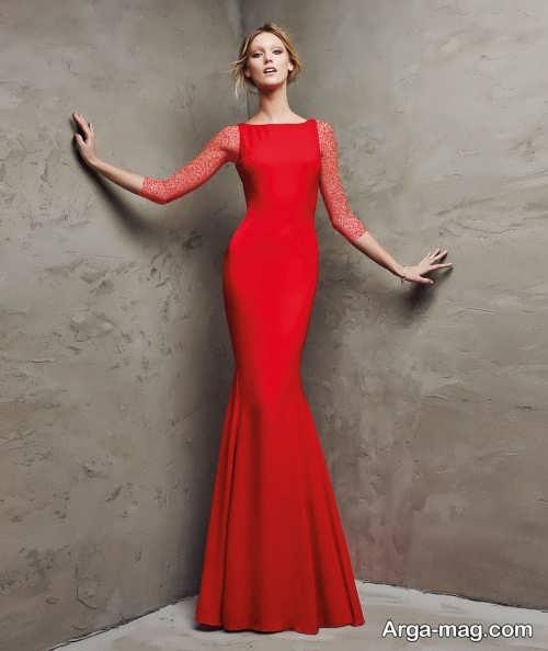 مدل لباس مجلسی ساده و قرمز