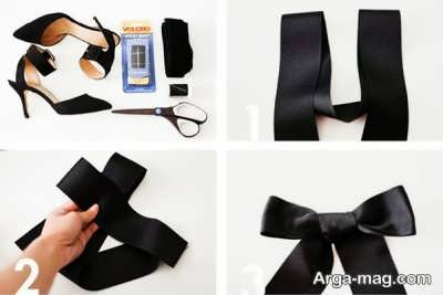 تزیین زیبای کفش کهنه با پاپیون