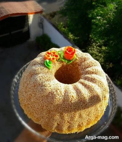 تزیین کیک کنجدی