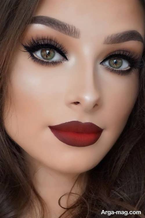 مدل زیبا و جدید آرایش چشم اسموکی