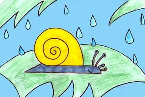 نقاشی جالب حلزون