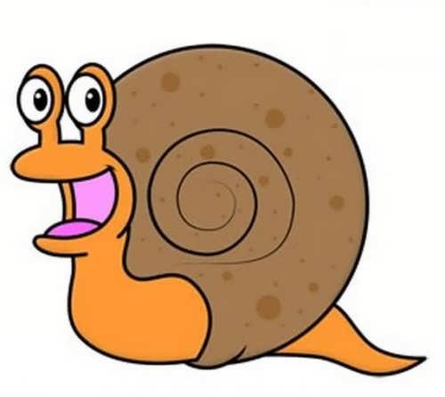 نقاشی زیبا حلزون برای بچه ها