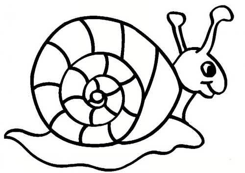 نقاشی شیک و کودکانه حلزون