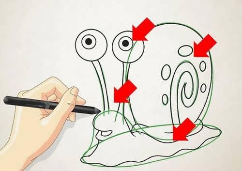 کشیدن نقاشی فانتزی حلزون