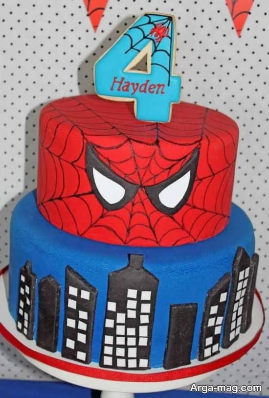 تزیین کیک با تم تولد مرد عنکبوتی