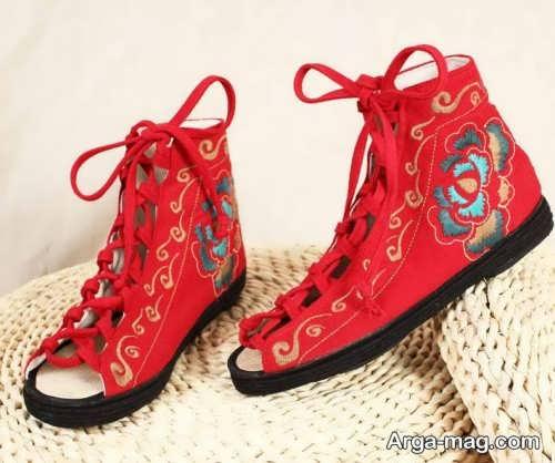 مدل کفش دخترانه طرح دار