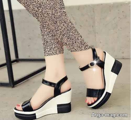 مدل کفش سیاه و سفید تابستانی