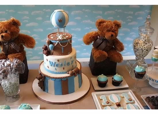 طراحی زیبای میز تولد با خرس تدی