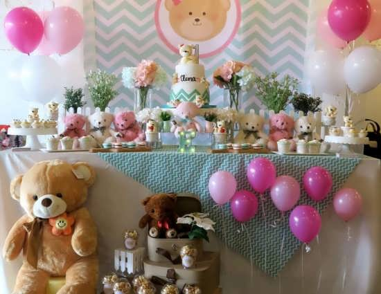 طراحی شیک میز تولد با تم خرس تدی