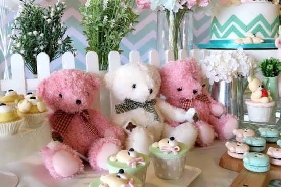 تزیین ایده آل میز تولد با خرس تدی
