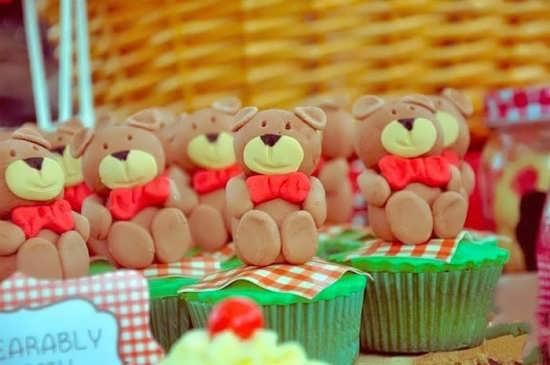 تزیین کاپ کیک با خرس تدی