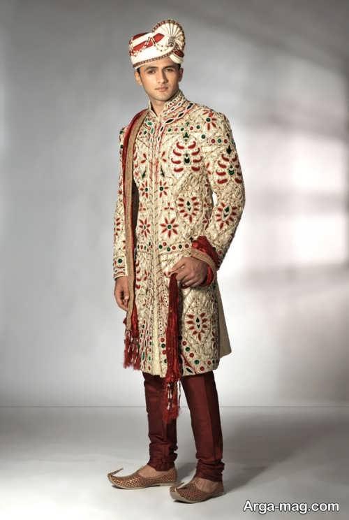لباس سنتی طرح دار مردانه