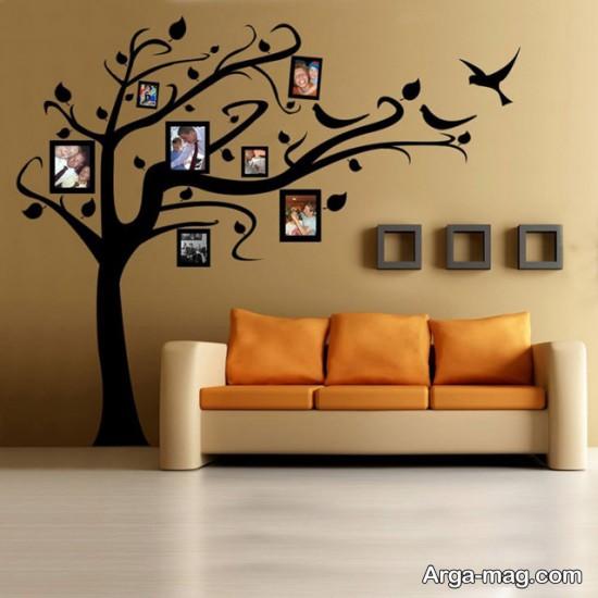طراحی زیبای دیوار با عکس