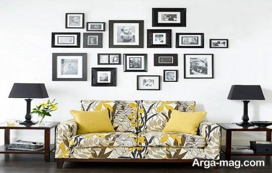 طراحی لاکچری دیوار با عکس