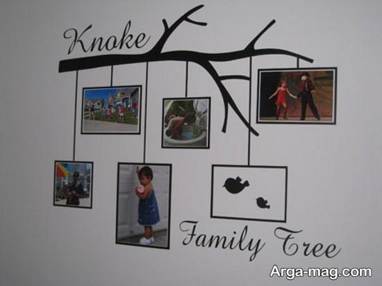 طراحی دیوار با عکس
