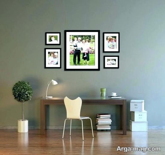 چیدمان جذاب دیوار با عکس