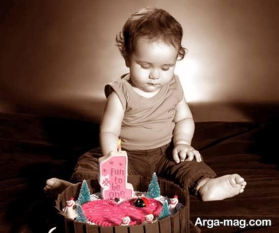 ژست ساده و زیبا عکس تولد