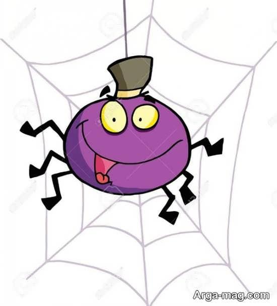 عنکبوت با رنگ آمیزی با مزه